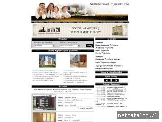 Zrzut ekranu strony www.nieruchomoscitrojmiasto.info