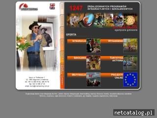 Zrzut ekranu strony www.orienteering.com.pl