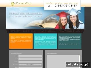 Zrzut ekranu strony www.pracamagisterska.pl