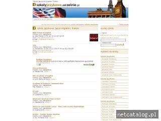 Zrzut ekranu strony www.angielskikrakow.szkolyjezykowe.com