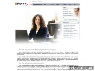 Zrzut ekranu strony www.bossplus.pl