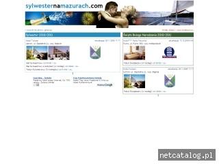 Zrzut ekranu strony www.sylwesternamazurach.com