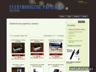 Zrzut ekranu strony www.epapierosygdynia.pl