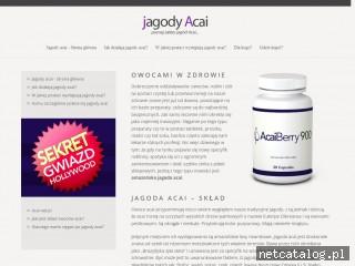 Zrzut ekranu strony www.jagodyacai.info.pl