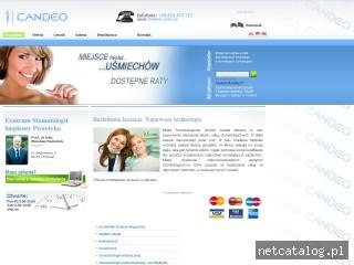 Zrzut ekranu strony www.candeo.pl