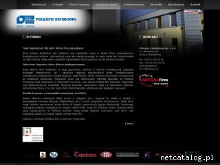 Zrzut ekranu strony www.polexpo.pl