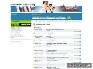 Zrzut ekranu strony www.pracawewroclawiu.org