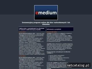 Zrzut ekranu strony emedium.com.pl