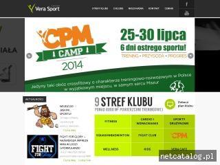 Zrzut ekranu strony www.verasport.pl