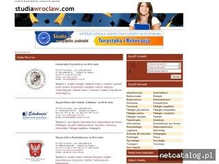 Zrzut ekranu strony www.studiawroclaw.com