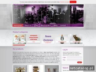 Zrzut ekranu strony www.dekor-gifts.eu