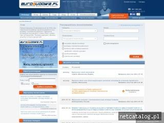 Zrzut ekranu strony www.eurobudowa.pl
