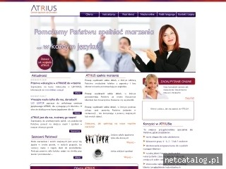 Zrzut ekranu strony www.atrius.pl