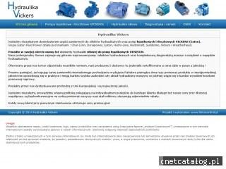 Zrzut ekranu strony www.hydraulika-vickers.pl
