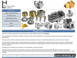 Zrzut ekranu strony www.hydraulika-liebherr.pl