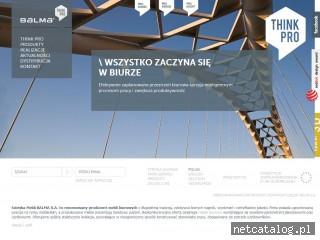 Zrzut ekranu strony www.balma.com.pl