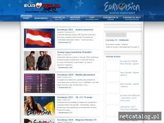 Zrzut ekranu strony www.eurowizja.info