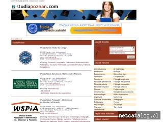 Zrzut ekranu strony www.studiapoznan.com