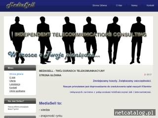 Zrzut ekranu strony WWW.mediasellpolska.pl