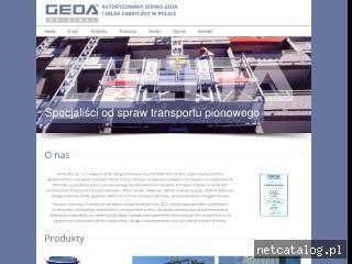 Zrzut ekranu strony www.windy-geda.pl