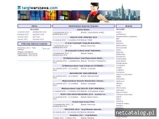 Zrzut ekranu strony www.targiwarszawa.com