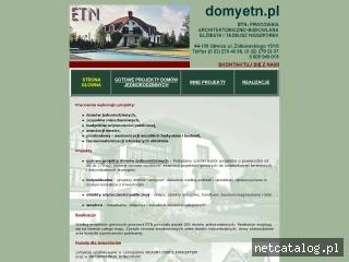 Zrzut ekranu strony www.domyetn.pl