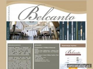 Zrzut ekranu strony restauracja-belcanto.pl