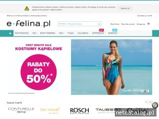Zrzut ekranu strony e-felina.pl