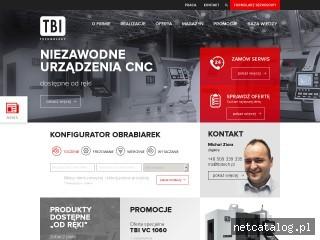 Zrzut ekranu strony www.tbitech.pl