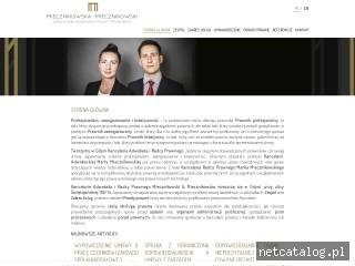 Zrzut ekranu strony www.kancelaria-mm.pl