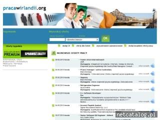 Zrzut ekranu strony www.pracawirlandii.org