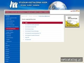 Zrzut ekranu strony www.specjalistyczne.skk.pl