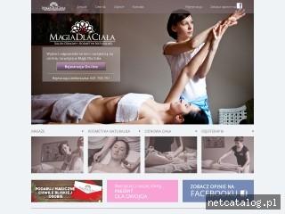 Zrzut ekranu strony www.magiadlaciala.pl
