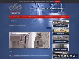 Zrzut ekranu strony www.asmetkonsorcjum.pl