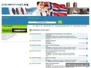 Zrzut ekranu strony www.pracawnorwegii.org
