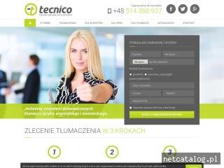 Zrzut ekranu strony www.tecnicotlumaczenia.pl