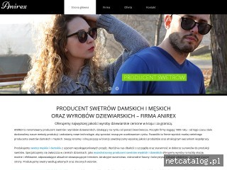 Zrzut ekranu strony www.anirex.pl