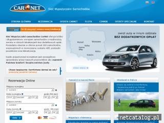 Zrzut ekranu strony www.carnet.pl