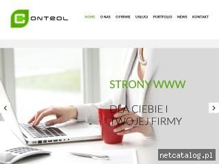 Zrzut ekranu strony www.control.net.pl
