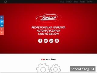 Zrzut ekranu strony www.funcar.com.pl