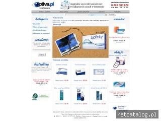Zrzut ekranu strony www.optiva.pl