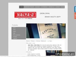 Zrzut ekranu strony salon.makra-met.com.pl