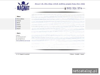 Zrzut ekranu strony magnat.info.pl