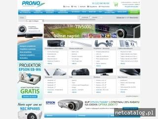 Zrzut ekranu strony www.prono.com.pl