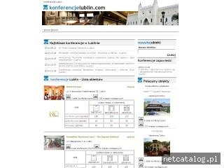 Zrzut ekranu strony www.konferencjelublin.com