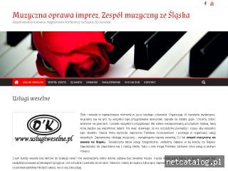 Zrzut ekranu strony www.uslugiweselne.pl