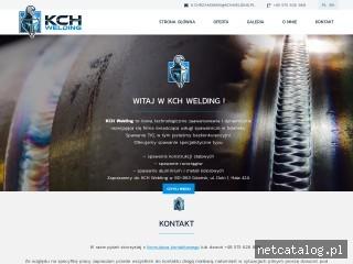 Zrzut ekranu strony www.kchwelding.pl