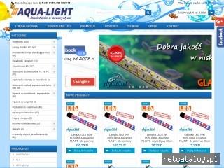 Zrzut ekranu strony aqua-light.pl