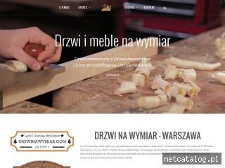 Zrzut ekranu strony www.drzwinawymiar.com