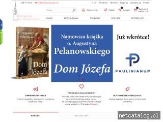 Zrzut ekranu strony www.ksiegarniajasnagora.pl